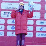 辉南县朝阳镇马彤跳台滑雪女子赛夺冠
