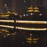 蓉城元旦夜景