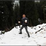 我和狗三再跑九��  白云山去看下雪了啊~~~~