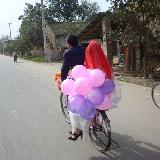 回想当年户县棒棒糖的单车婚礼