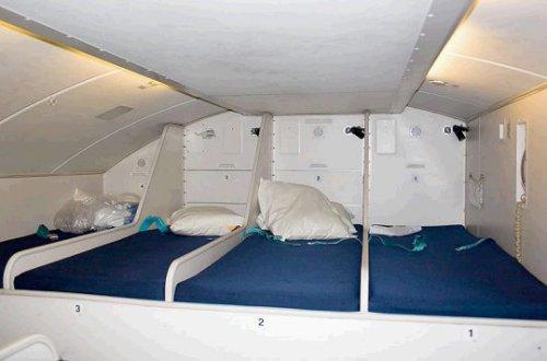 """空姐睡哪儿?看看她们""""天上""""的床"""