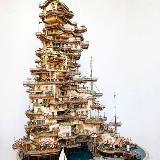"""艺术家盆景中建微型""""建筑群""""太美了!"""