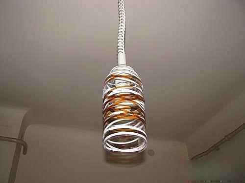 矿泉水瓶,可乐瓶制作灯罩,灯罩diy
