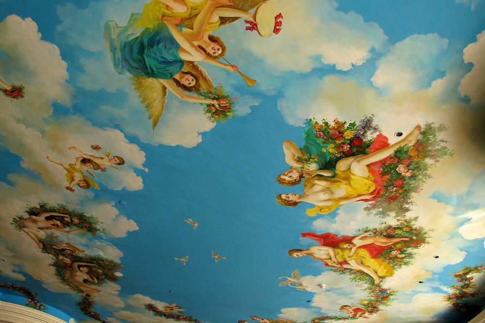 欧式全景壁画贴图