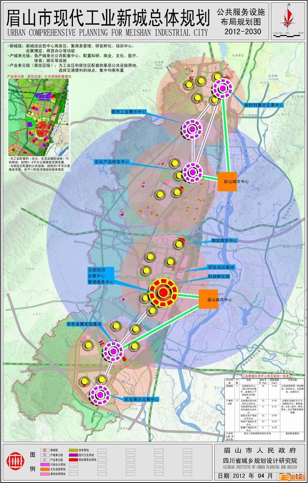 [分享]眉山市现代工业新城总体规划(高清大图)
