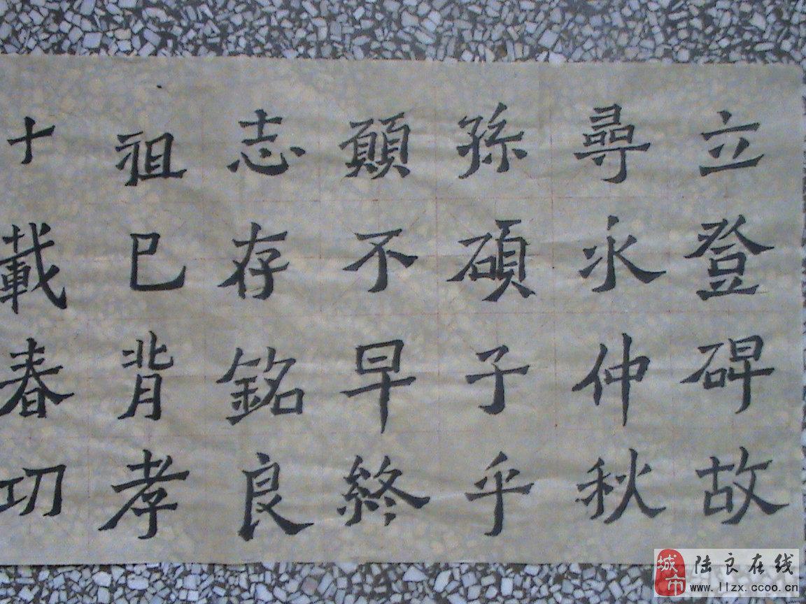 临摹《爨龙颜碑》:初学爨体书法,望指点!