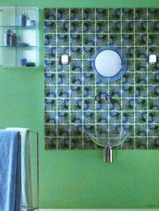 五款创意瓷砖铺贴 卫浴间墙面新花样