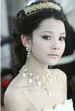 [贴图]盘点韩式新娘盘头图片