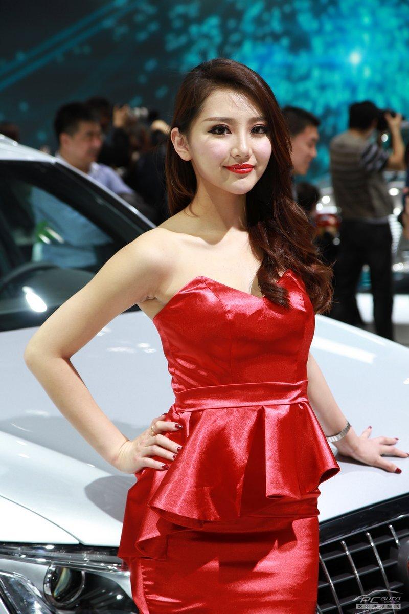 2012北京车展美女车模――奥迪1号车模