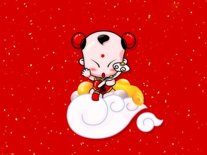 可爱的招财童子,新年大拜年!