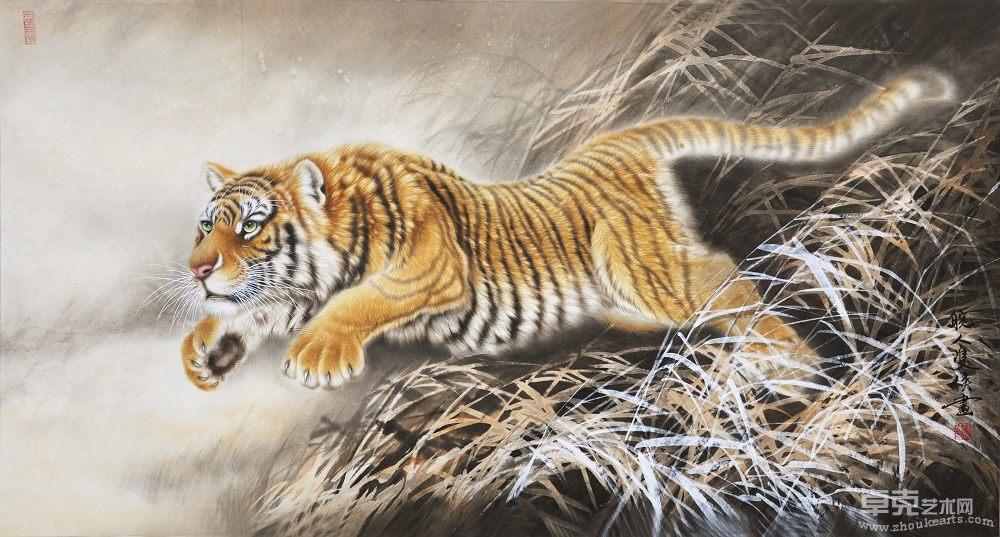 老虎工笔画的步骤