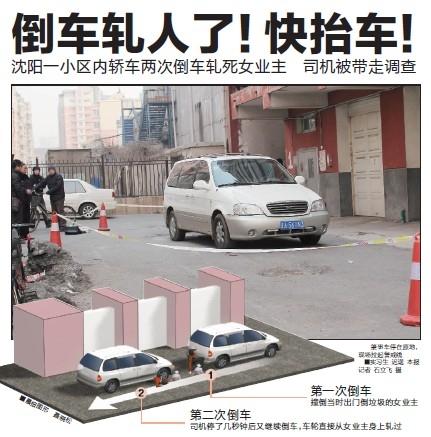 轿车两次倒车创盈国际55岁女业主小区内殒命
