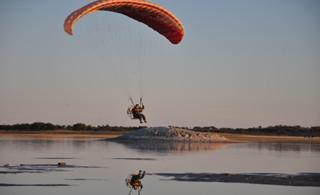 五河动力伞飞行