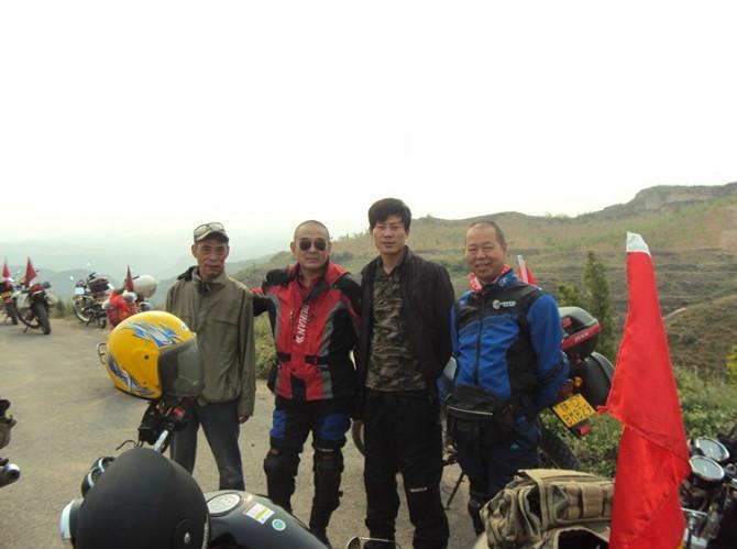 兄弟机车与西安中老年摩托车旅游协会相聚-乾坤湾