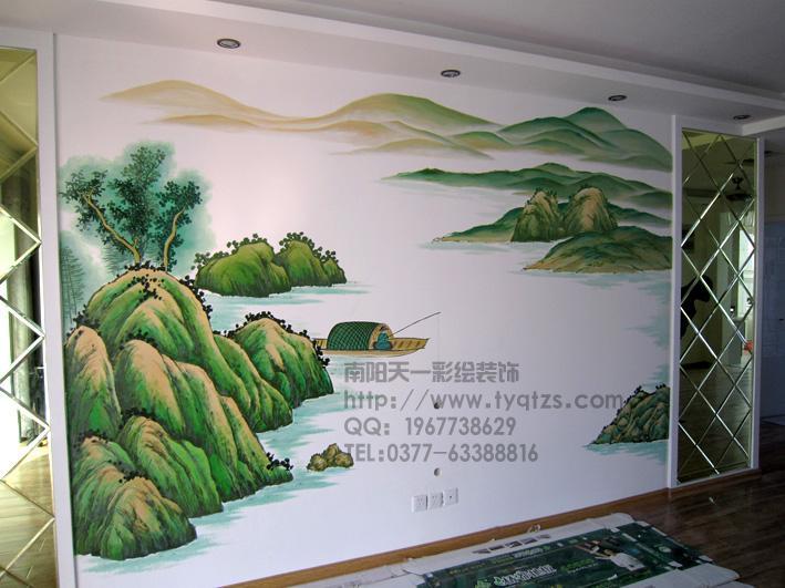 主题酒店走道手绘墙画图片大全
