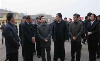 省委书记省人大常委会主任袁纯清在汾西县调研