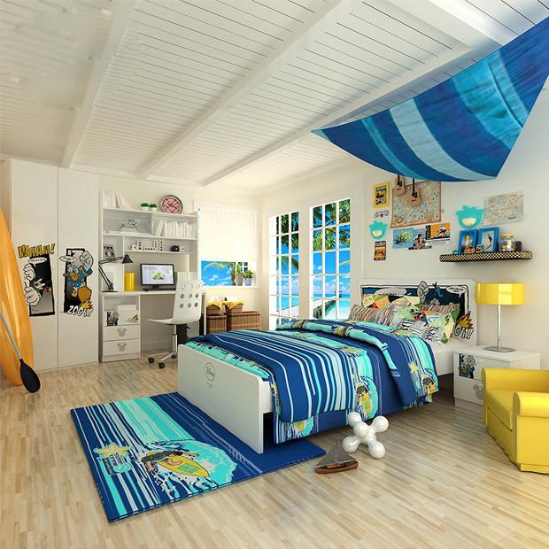 [贴图]漂亮的儿童房间实际效果图