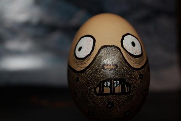 鸡蛋壳上的搞怪艺术