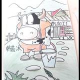 大洼新世界卡通绘画教室作品