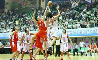 2012年全国女子篮球乙级联赛在上栗开赛四川福建山西代表队首轮获胜