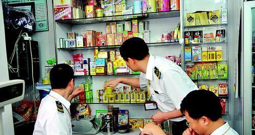 惠州市区一家食品百货港货店摆卖药品被查处