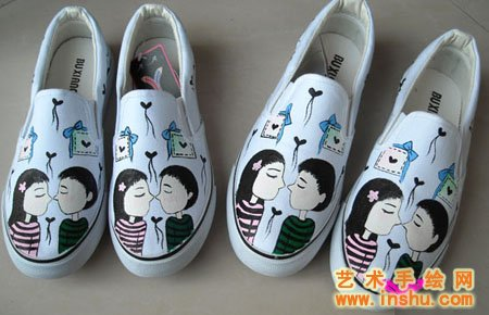 墙体手绘,手绘鞋