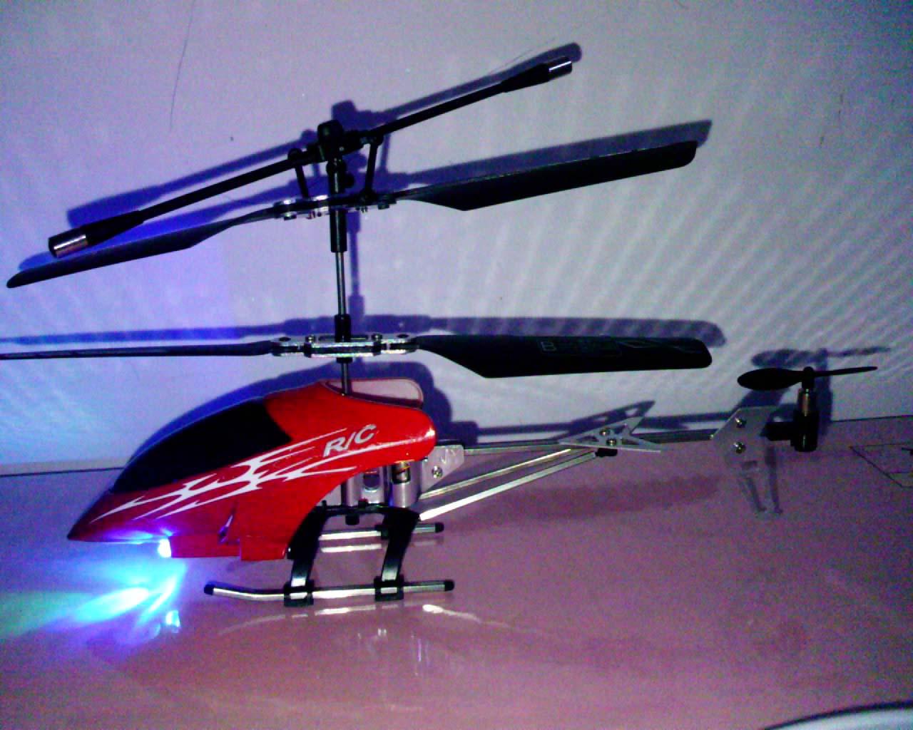 金属三通道遥控直升机
