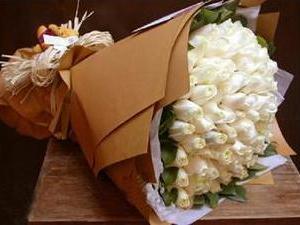 [33枝白玫瑰花束-三生三世的爱情]