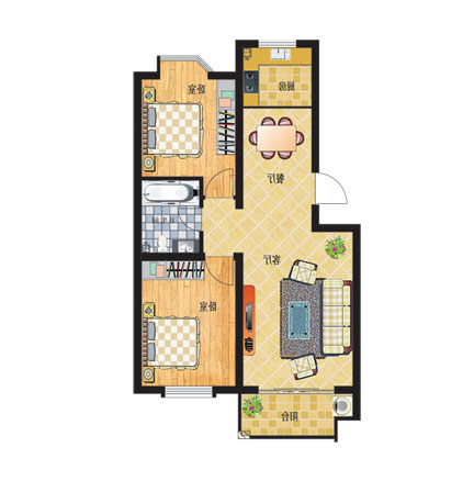 高层房屋户型设计图