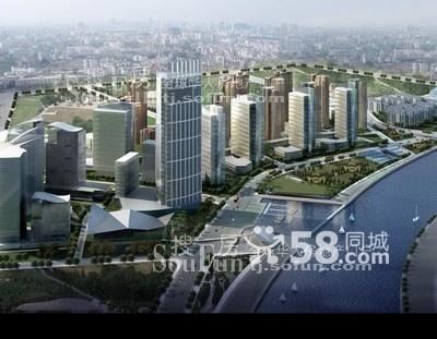 (出租)天津湾中环广场310平米写字间,使用面积大