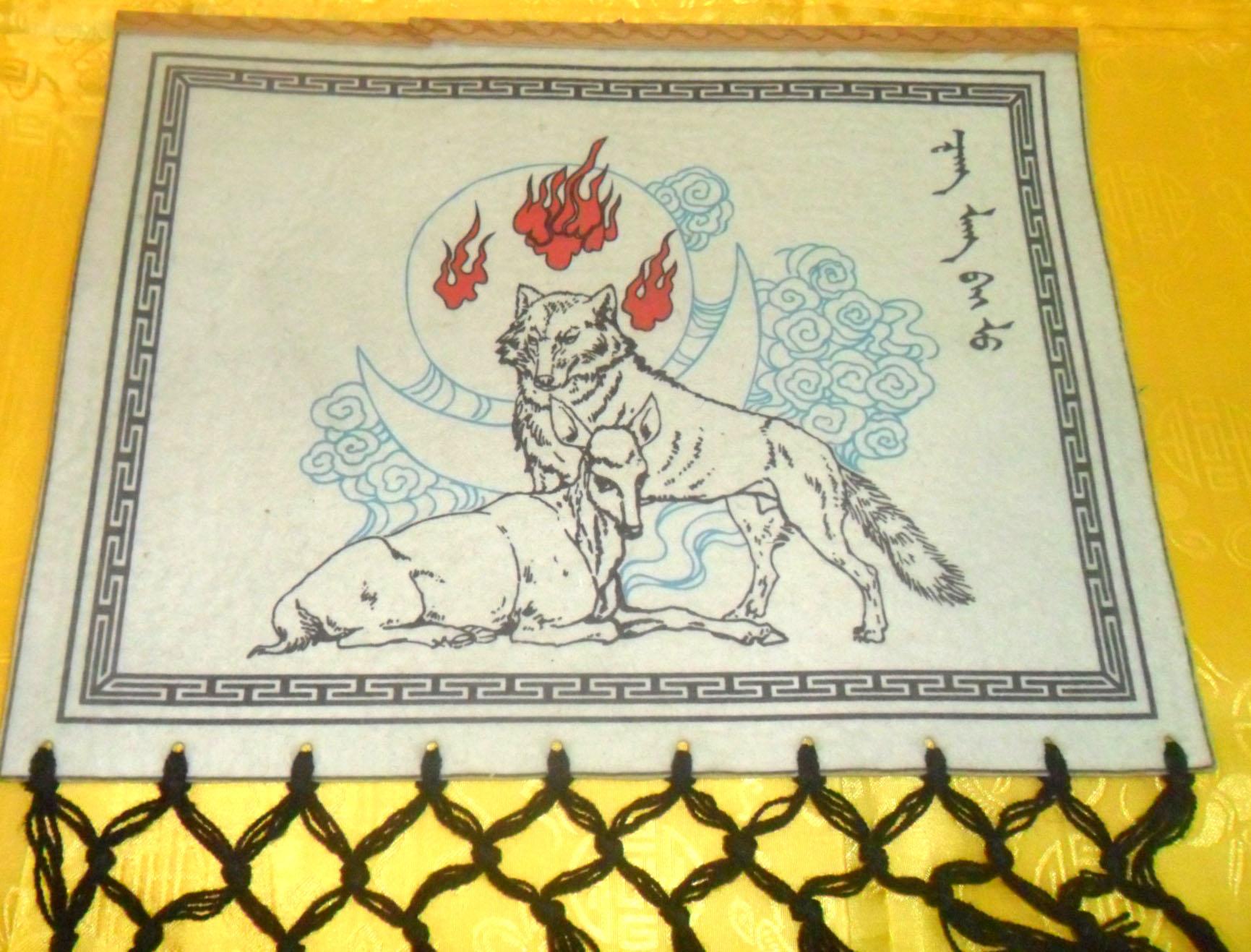 蒙古族特色毡画图片
