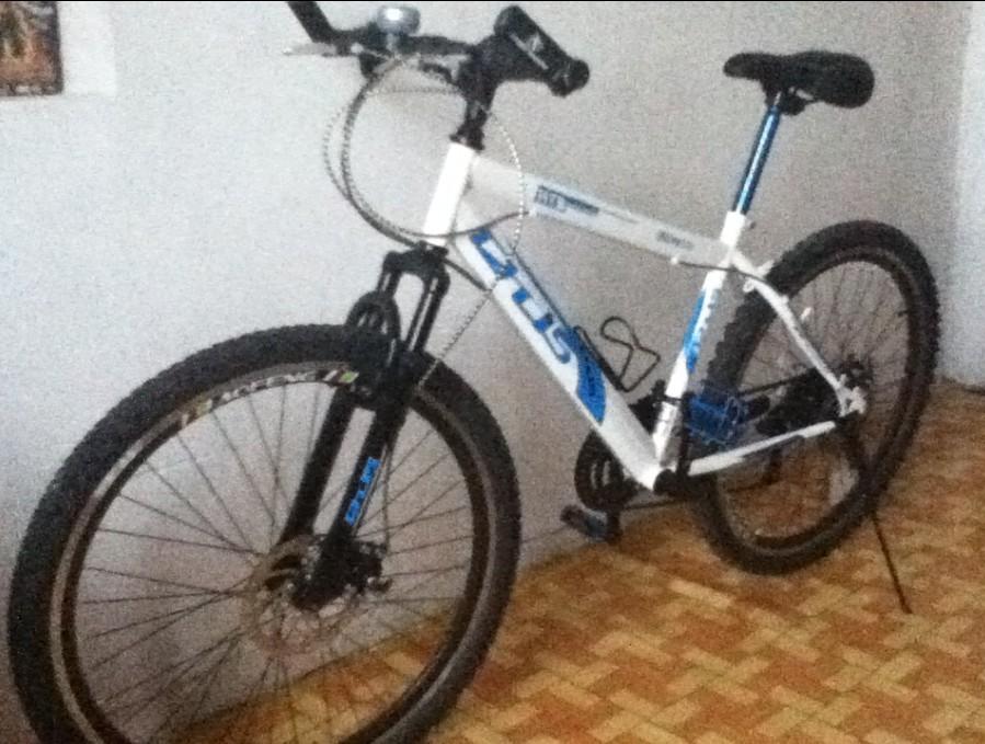 售6月份购买回来18速前后碟刹DIY山地自行车