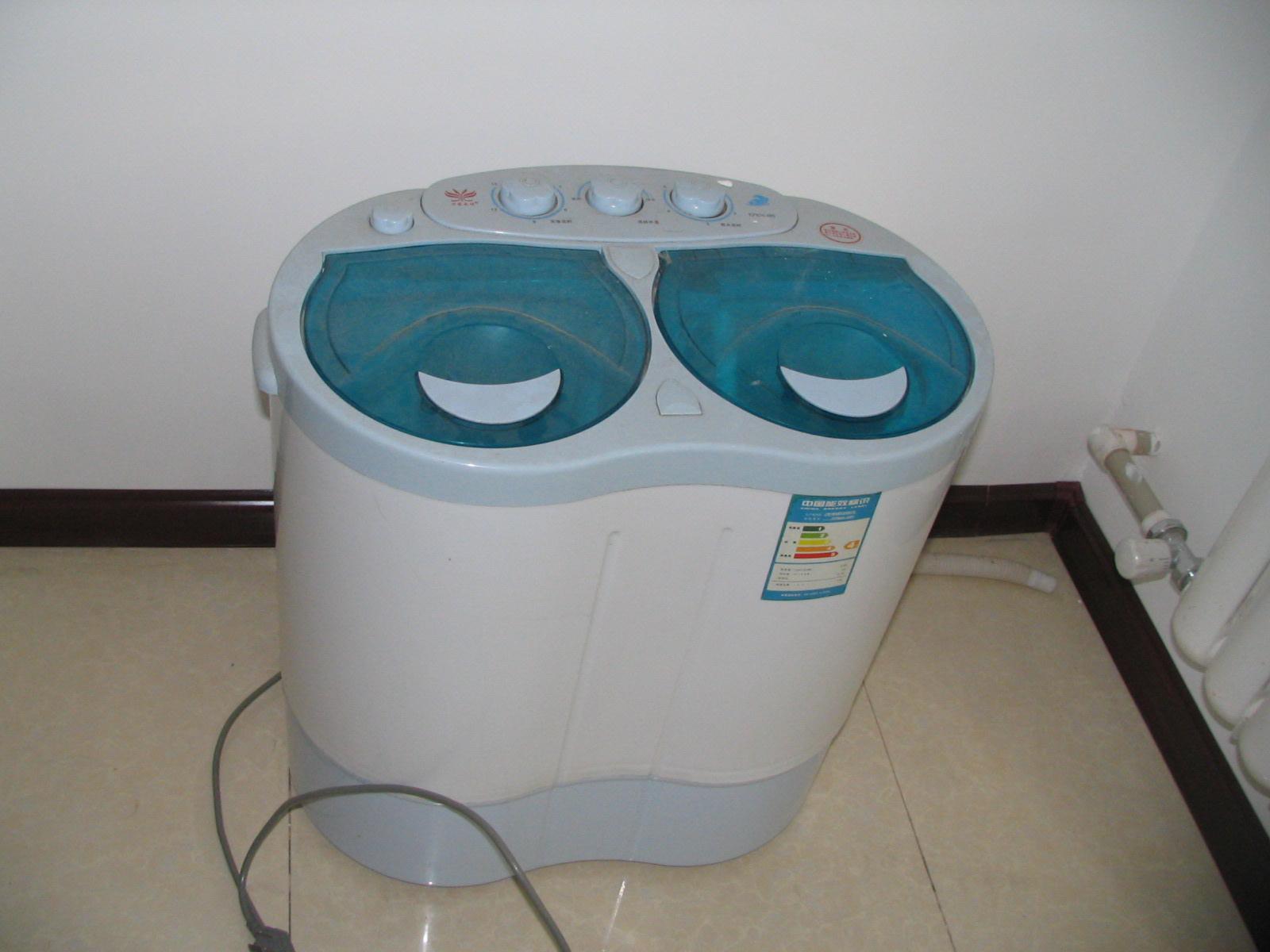 宝宝专用白色双缸迷你洗衣机