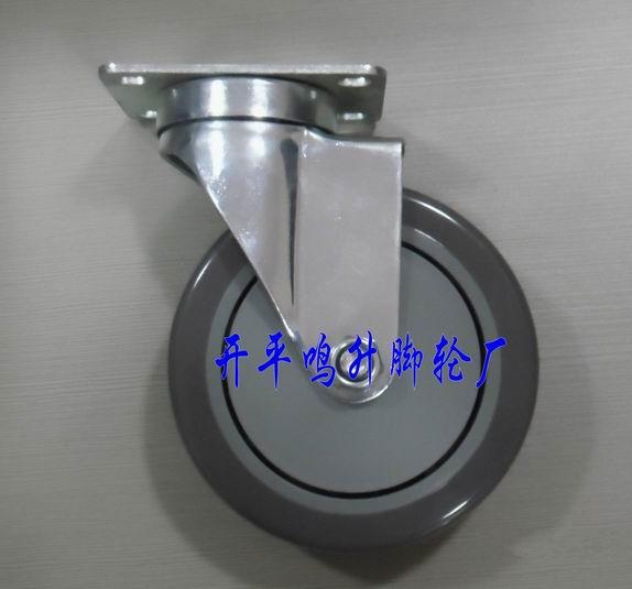 单轴PVC脚轮