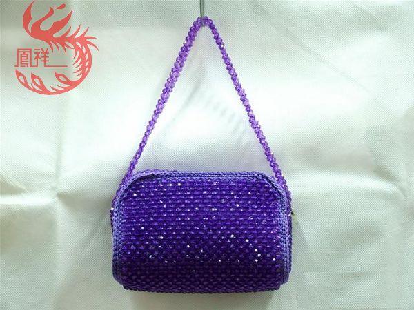 水晶手工编织包