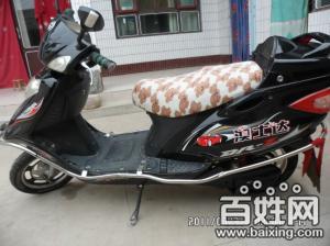 出售一辆九成新的澳士达黑色电动摩托车,电瓶全新的 - 1800元