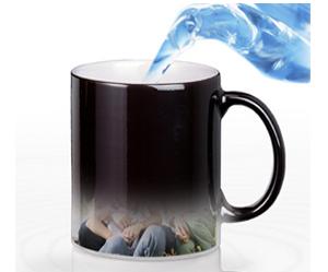 倒热水变出照片的魔法杯子|定制创意礼物魔幻杯