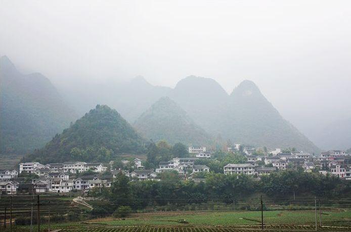 农村实拍山水风景 片