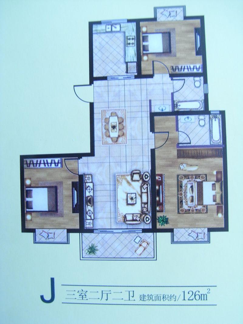 阜宁绿洲半岛3室2厅1卫55万元