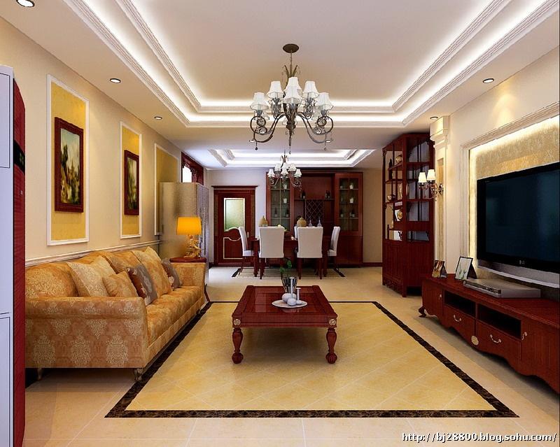 美式混搭客厅