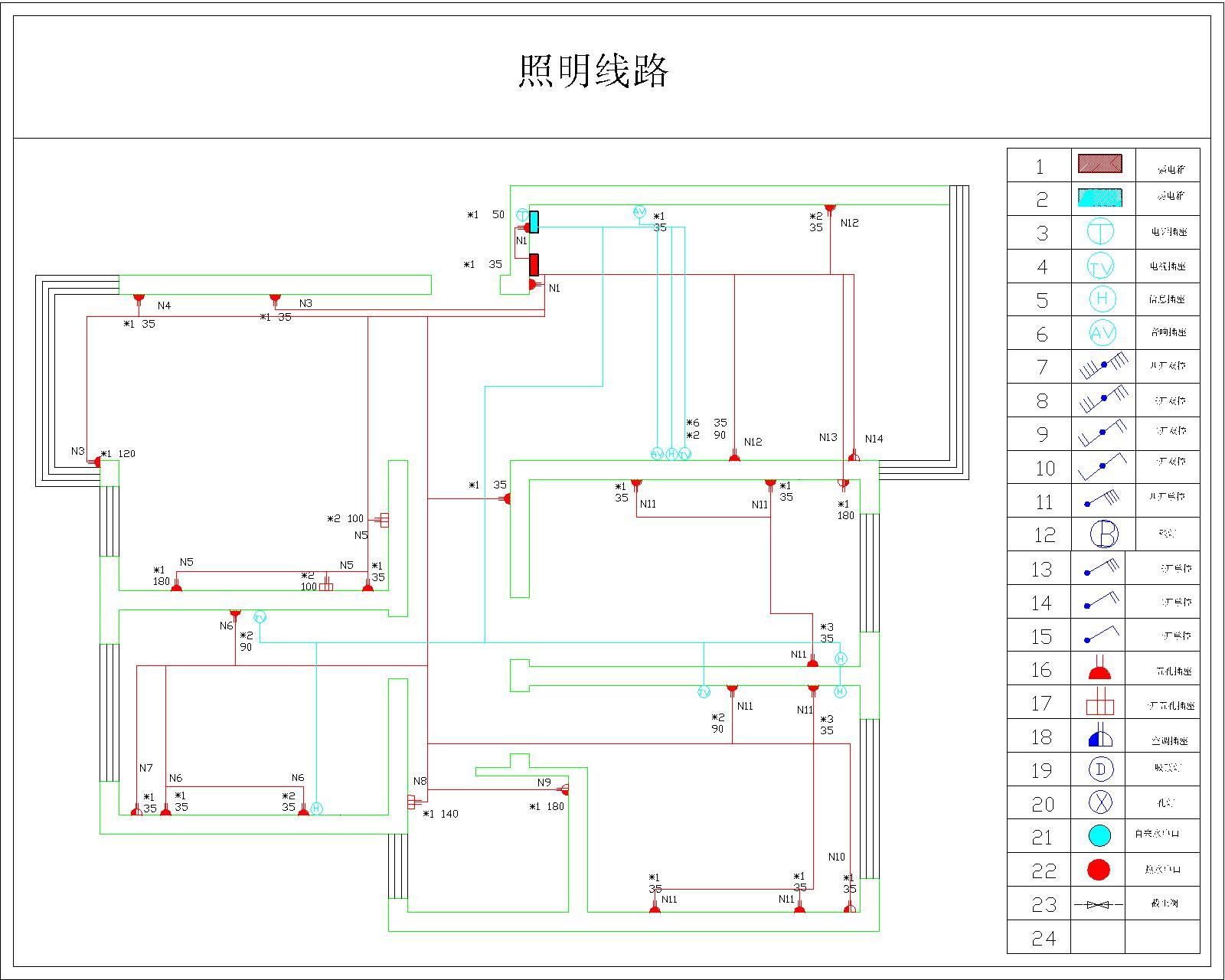 室内水电安装布线图分享展示