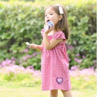 可爱泡泡袖连衣裙 A909