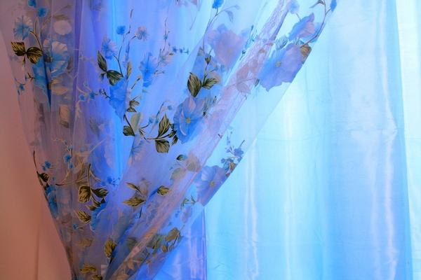 欧式浅蓝色布艺贴图
