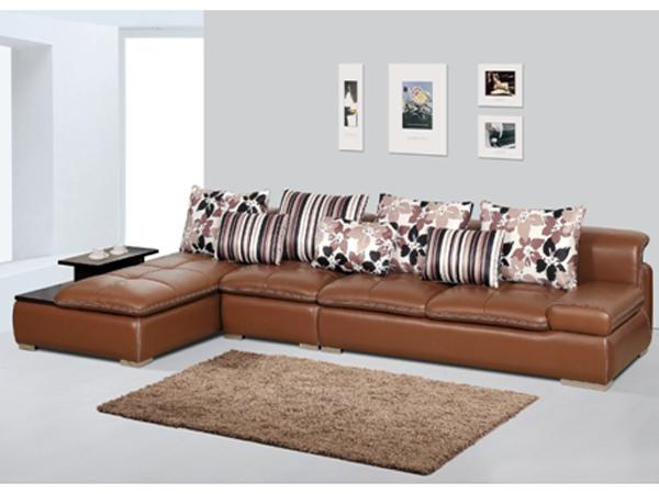 【现代风格】掌上明珠客厅真皮沙发效果图
