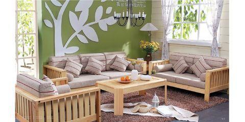 香柏年松木家具客厅系列