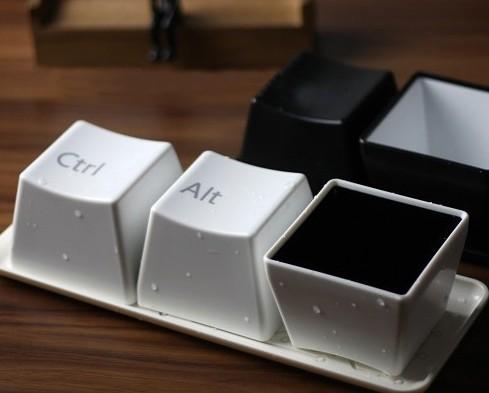 家居生活馆 时尚按键造型极简水杯 随手杯 迷你水杯 创意键盘