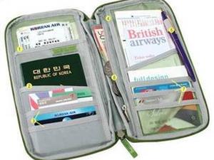 正品&#8226旅行随身多用手拿包 票据包 卡片包 收纳包票据整理夹