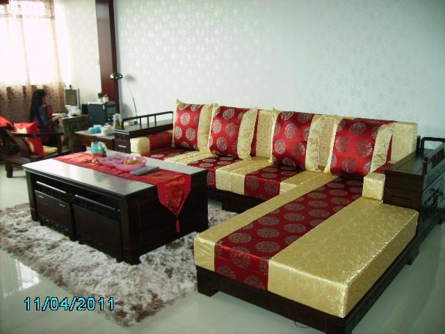 欧式 古典 高档红木家具坐垫