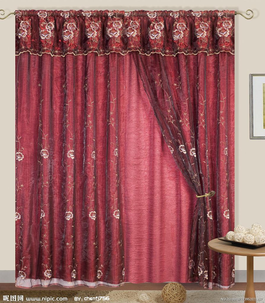 枣红色欧式窗帘