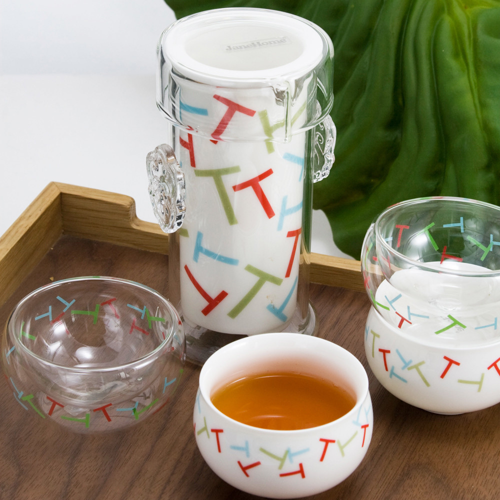 简爱家居 一品个人茶具 玻璃 茶具 套装 玻璃杯 功夫茶具
